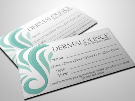 DERMALOUNGE APPOINTMENT CARDS