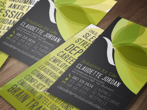 SOLUTIONS FOR LIFE BUSINESS CARDS